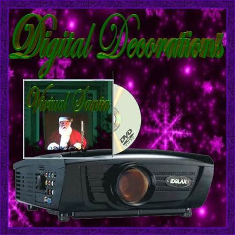 digital christmas decoration lcd projector virtual