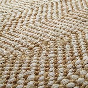 Tapis Jaune Maison Du Monde : tapis en coton et jute 140 x 200 cm tapis en toile de ~ Zukunftsfamilie.com Idées de Décoration