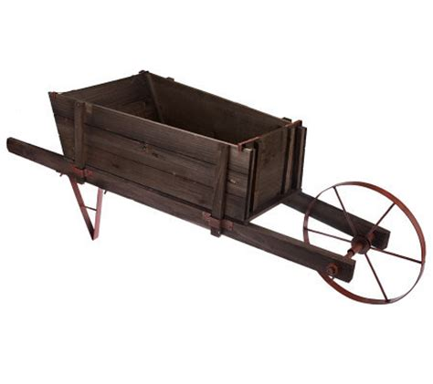 plow hearth large wheelbarrow planter page 1 qvc