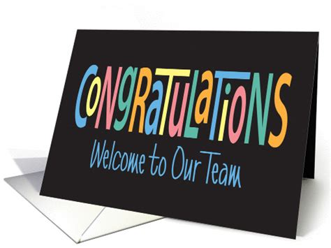Baby Shower For Men by Congratulations Welcome To Our Team Colorful Letters On