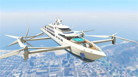 ultimate flying super yacht mod gta  mods funny moments
