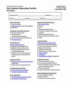 16 new employee checklist templates sample templates With employee onboarding documents