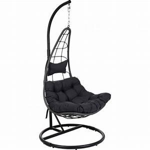 Fauteuil Suspendu Enfant : fauteuil suspendu gwada noir transat et hamac eminza ~ Melissatoandfro.com Idées de Décoration