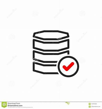 Completed Database Symbol Icon Approved Confirm Tick