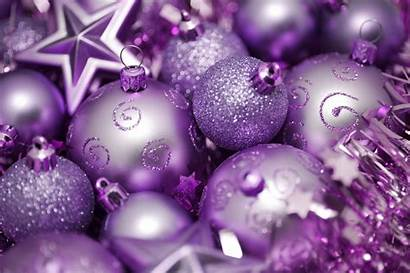 Purple Decorations Christmas Pink Ornaments Background Tree