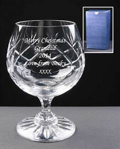 personalised engraved bohemia crystal brandy glass best With etched glass wedding gifts