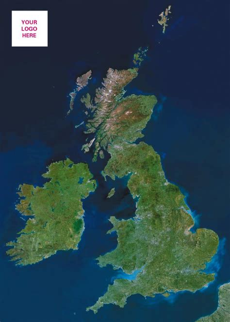 personalised satellite image  great britain
