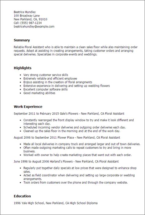 floral designer resume cover letter professional floral assistant templates to showcase your