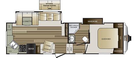 rear kitchen rv floor plans 279rkswe fifth wheel 7642