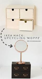 Ikea Kommode Schwarz : ikea upcycling hack die moppe kommode als schminkaufbewahrung in schwarz kupfer ~ Watch28wear.com Haus und Dekorationen