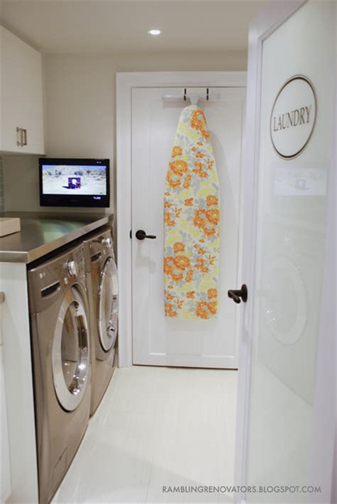 the galley kitchen basement laundry room contemporary laundry room 2714