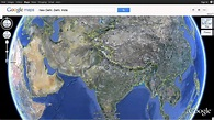 India as seen on Google Earth using Google Maps - YouTube