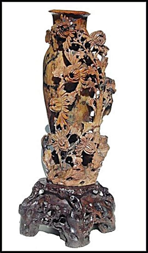 antique carved soapstone vase soapstone  randall
