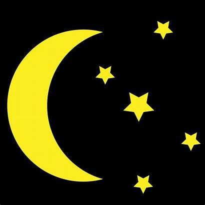 Moon Stars Clipart Yellow Rhythm Circadian Background