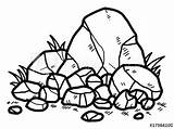 Rock Clipart Rocks Stone Cartoon Drawing Metamorphic Sketch Vector Illustration Clip Drawn Clipartmag Isolated Shutterstock Clipground sketch template
