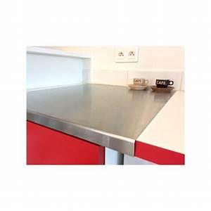 Cadre Inox Pour Plaque Vitroceramique : plaque inox pour recouvrir plan de travail ~ Premium-room.com Idées de Décoration