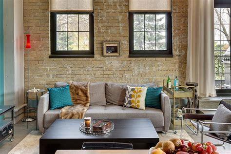 brick wall living rooms  inspire  design