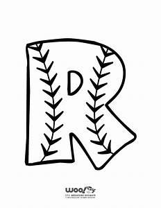 baseball alphabet letter r woo jr kids activities With baseball letter art
