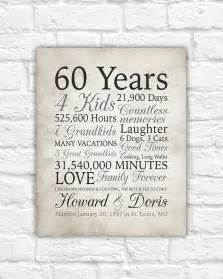 60 year wedding anniversary 60th anniversary gift 60 years married or any year gift for and grandparents
