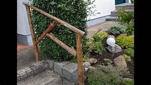 Komposttoilette Für Garten : rustikales treppengel nder holzgel nder gel nder f r den garten aus holz selbst bauen youtube ~ Whattoseeinmadrid.com Haus und Dekorationen