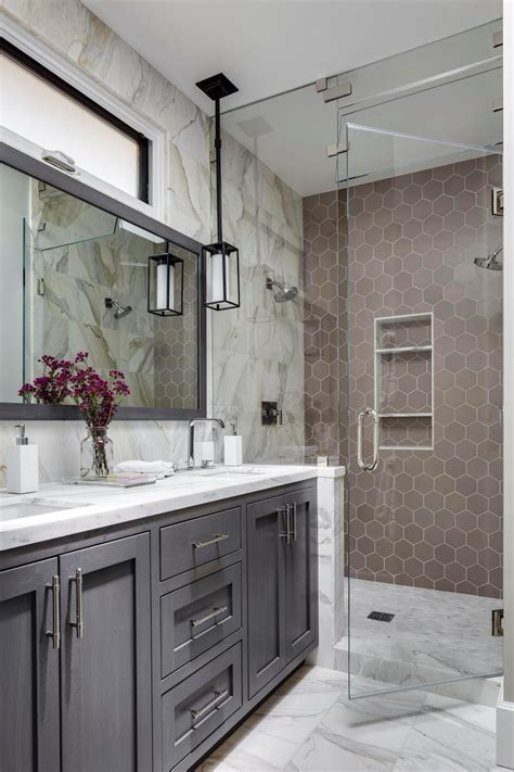 gray master bathroom ideas 9 bold bathroom tile designs hgtv s decorating design Gray Master Bathroom Ideas
