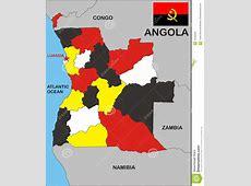 Angola Map Stock Photos Image 10182093