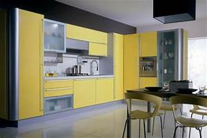 Yellow kitchens for Kitchen cabinet trends 2018 combined with dry erase sticker