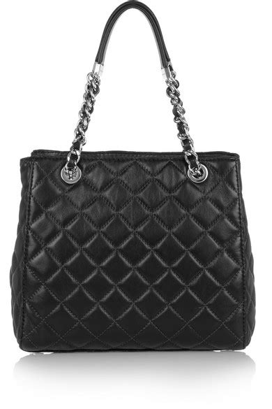 michael michael kors susannah small quilted leather tote net a porter