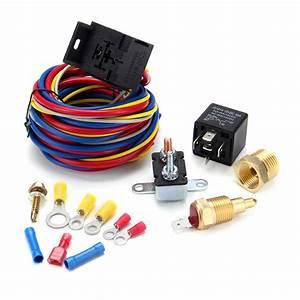 Heavy Duty Electric Fan Wiring Install Complete Kit
