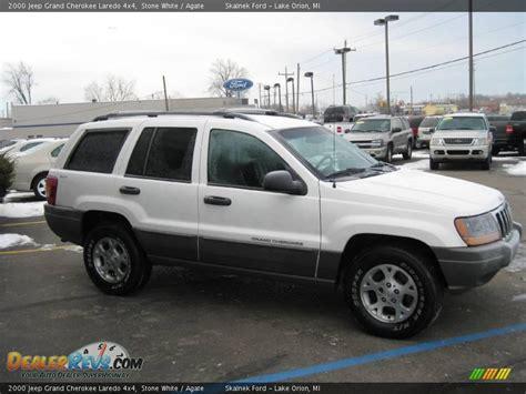 jeep laredo white 2000 jeep grand cherokee laredo 4x4 stone white agate