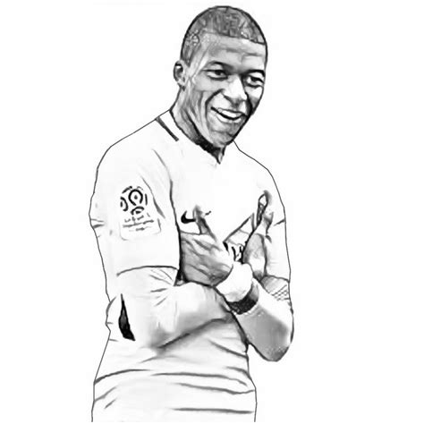 kylian mbappe image  coloring page  coloring pages