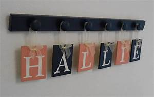 coral and navy baby nursery wall letters personalized set with With personalized wall letters for nursery
