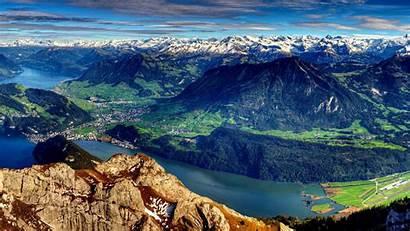 Panoramic Mountain Desktop Forest Mountains Summer Landscape