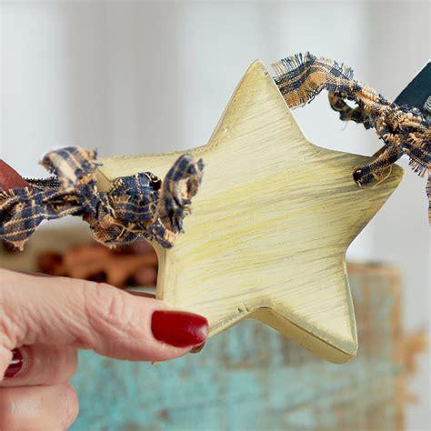 primitive americana wood star garland americana