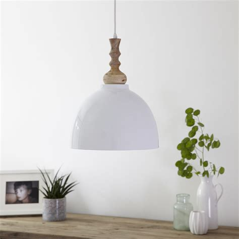 white enamel ceiling pendant light primrose plum