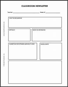 blank classroom newsletter for teachers and students With newsleter templates