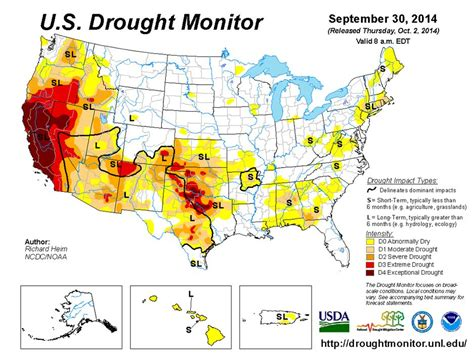 United States Drought Issues EnvironmentalScienceorg