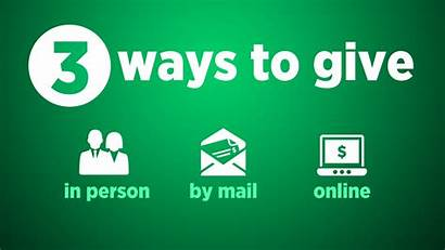 Give Giving Ways Church During Title Consistency