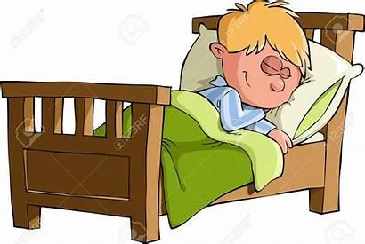 Bed Clipart Asleep Coucher Se Woman Cartoon