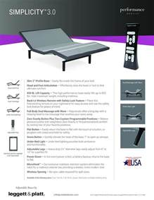 leggett and platt simplicity split queen adjustable bed