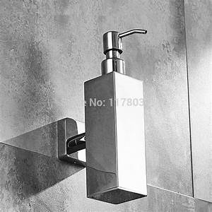 Wall Mounted Bathroom Soap Dispenser Stainless Steel Soap
