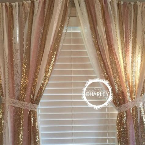 pink and gold shower curtain pink gold sparkle sequin garland curtain with lace