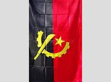 Angola waving flag in vertical Stock Photo Colourbox