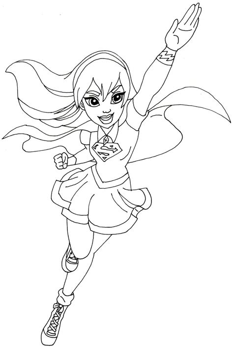 Supergirl Free Colouring Pages