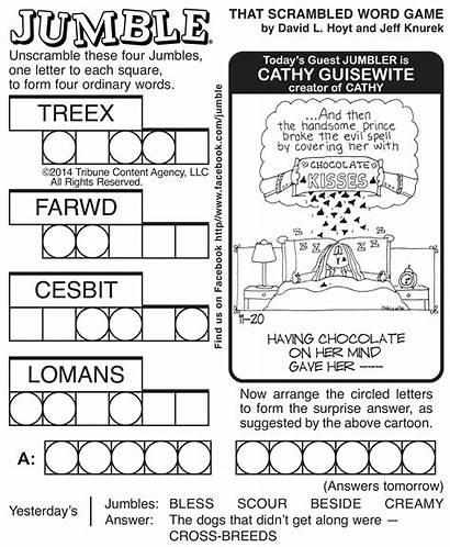 Jumble Puzzles Printable Crossword Word Puzzle Newspaper