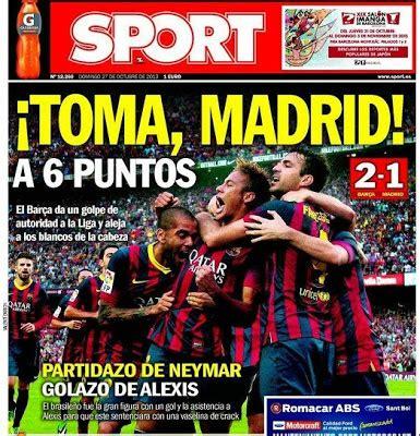 Las portadas del clásico Barcelona-Real Madrid 2013