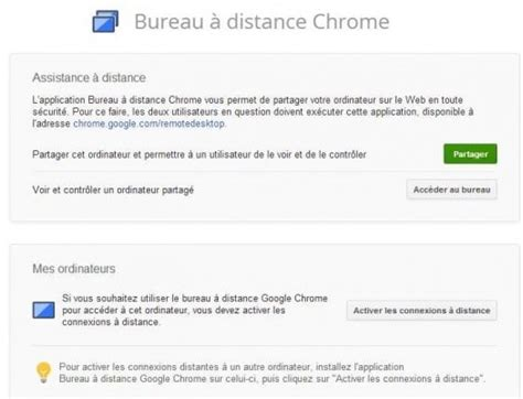 bureau à distance chrome version finale les infos de