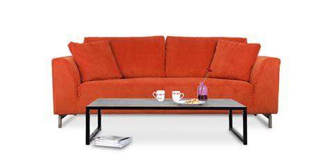 canapé velours cotelé canapé en velours orange commandez nos canapés en