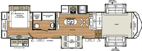 front kitchen rv floor plans sandpiper slides front living room great buy fifth wheel 6758