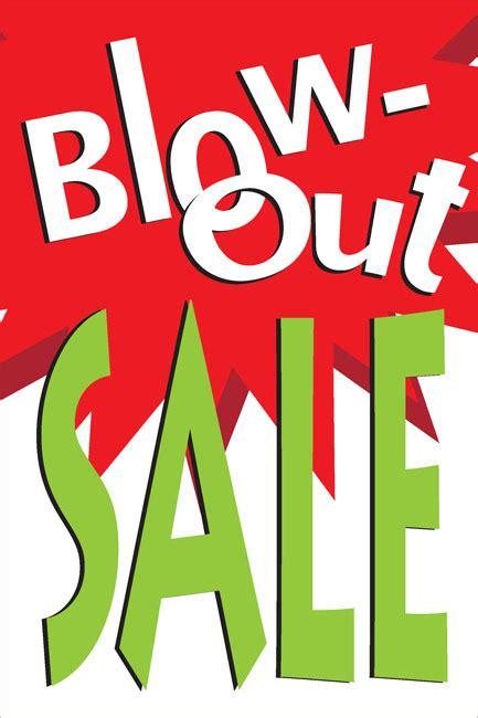 blowout sale posters style design id dpsbannerscom